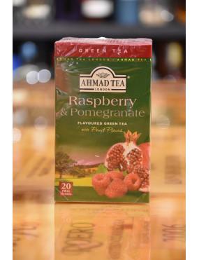 AHMAD TEA GREEN TEA RASPBERRY & POMEGR 20 TEA BAGS