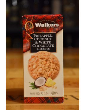 WALKERS PINEAPPLE  COCONUT & WHITE CHOCOLATE 150g